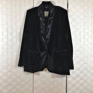 Lane Bryant Black Tuxedo Jacket In 24